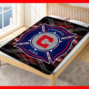 Chicago Fire FC Soccer Team Fleece Blanket Throw Quilt