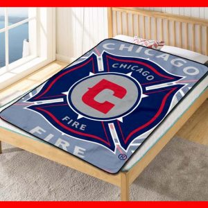 Chillder Chicago Fire FC Blanket. Chicago Fire FC Fleece Blanket Throw Bed Set Quilt Bedroom Decoration.