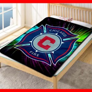 Chicago Fire FC MLS Soccer Team Blanket Quilt Bedding Bedroom Set