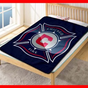 Chicago Fire FC Football Quilt Blanket Fleece Throw