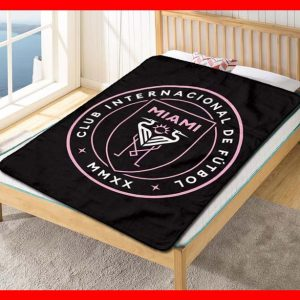 Chillder Inter Miami CF Blanket. Inter Miami CF Fleece Blanket Throw Bed Set Quilt Bedroom Decoration.