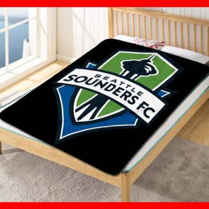 Seattle Sounders FC Club MLS Soccer Team Quilt Blanket Fleece Throw