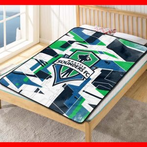 Seattle Sounders FC MLS Soccer Team Blanket Quilt Bedding Bedroom Set
