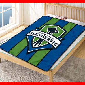 Seattle Sounders FC Club Soccer Team Quilt Blanket Throw Fleece