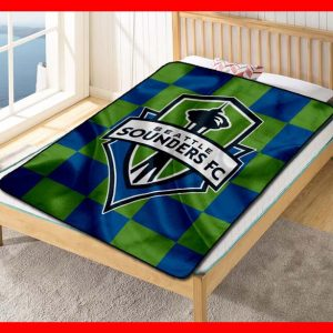Chillder Seattle Sounders FC Blanket. Seattle Sounders FC Fleece Blanket Throw Bed Set Quilt Bedroom Decoration.