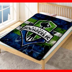 Seattle Sounders FC MLS Team Blanket Quilt Bedding Bedroom Set