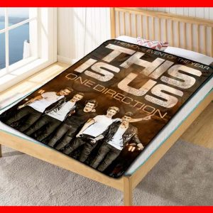 One Direction This Is Us Quilt Blanket Fleece Throw