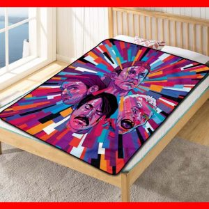 Red Hot Chili Peppers Artwork Quilt Blanket Throw Fleece