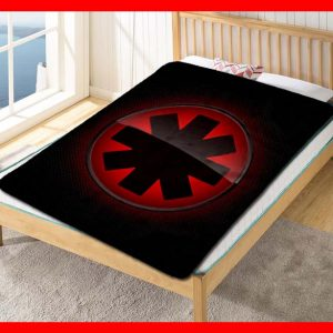 Red Hot Chili Peppers Logo Quilt Blanket Fleece Throw