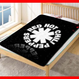 Red Hot Chili Peppers Rock Symbol Quilt Blanket Throw Fleece