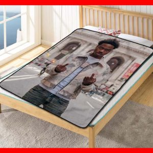 Roddy Ricch Feed Tha Streets Quilt Blanket Fleece Bed Set