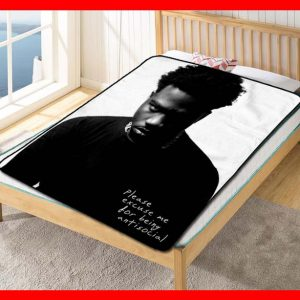 Roddy Ricch Please Excuse Me for Being Antisocial Quilt Blanket Throw Fleece