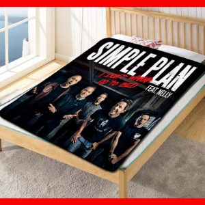 Simple Plan I Don't Wanna Go To Bed Quilt Blanket Fleece Bed Set