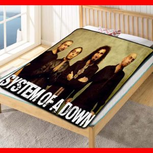 System Of A Down Members Rock Band Quilt Blanket Fleece Bed Set