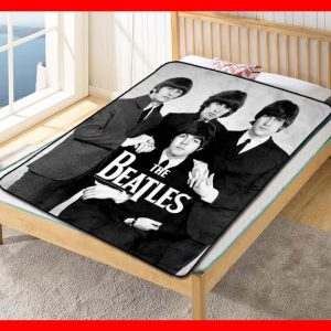 The Beatles Rock Fleece Blanket Throw Quilt