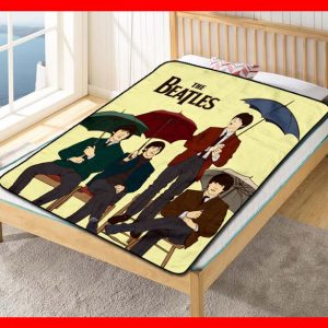 The Beatles Songs Fleece Blanket Throw Quilt