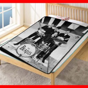 The Beatles Rock Band Quilt Blanket Throw Fleece