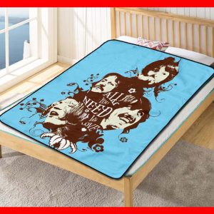 The Beatles #1786 Blanket Quilt Bedding Bedroom Set