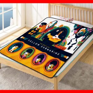 The Beatles Yellow Submarine Quilt Blanket Fleece Throw