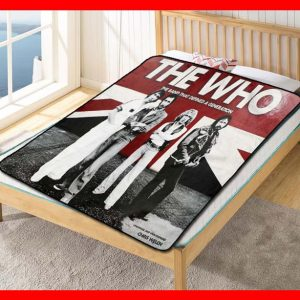The Who Band That Defines Generations Quilt Blanket Fleece Bed Set