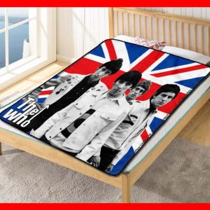 The Who Rock Band Quilt Blanket Fleece Bed Set