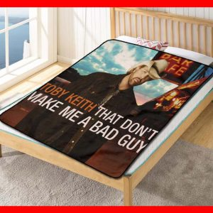 Toby Keith That Don't Make Me A Bad Guy Fleece Blanket Throw Quilt