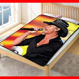 Tim McGraw Quilt Blanket Fleece Throw