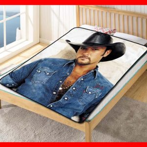 Tim McGraw Singer Quilt Blanket Throw Fleece
