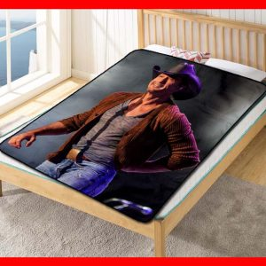 Tim McGraw Singer Fleece Blanket Throw Quilt