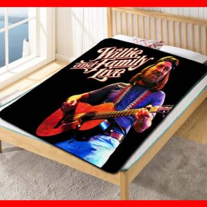 Willie Nelson And The Family Fleece Blanket Throw Quilt