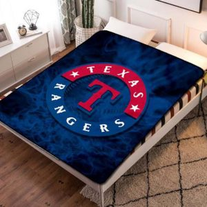 Texas Rangers Fleece Blanket Throw Quilt