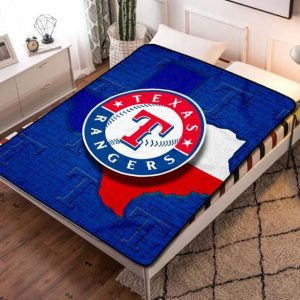 Texas Rangers MLB Team Fleece Blanket Throw Quilt