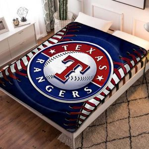 Texas Rangers Baseball Fleece Blanket Throw Quilt
