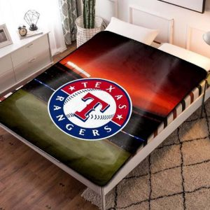 Texas Rangers Baseball Team Fleece Blanket Throw Quilt