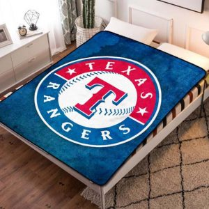 Texas Rangers MLB Baseball Team Fleece Blanket Throw Quilt