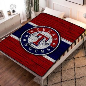 Texas Rangers Fleece Blanket Throw Bed Set