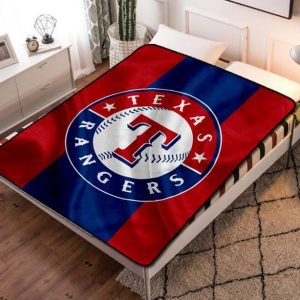Texas Rangers MLB Team Fleece Blanket Throw Bed Set