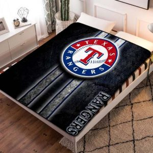 Texas Rangers Baseball Team Fleece Blanket Throw Bed Set