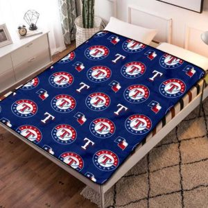 Texas Rangers Baseball Fleece Blanket Throw Bed Set