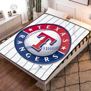 Texas Rangers MLB Team Fleece Blanket Quilt