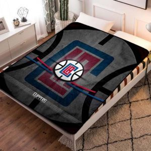 Los Angeles Clippers NBA Basketball Team Fleece Blanket Throw Quilt