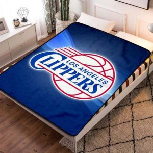 Los Angeles LA Clippers NBA Basketball Team Fleece Blanket Throw Bed Set