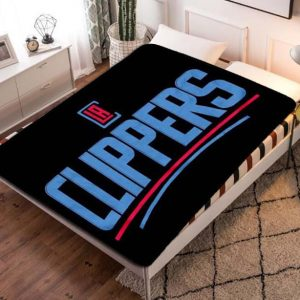 Los Angeles LA Clippers Team Basketball Quilt Blanket Throw Fleece