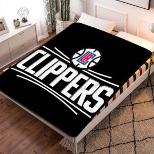 Los Angeles Clippers NBA Team Fleece Blanket Throw Quilt