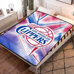 Los Angeles LA Clippers Basketball Quilt Blanket Fleece Throw
