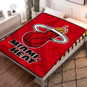 Miami Heat Quilt Blanket Fleece Bed Set
