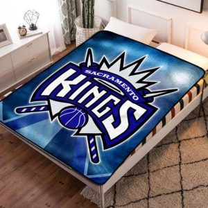 Sacramento Kings NBA Team Fleece Blanket Throw Bed Set