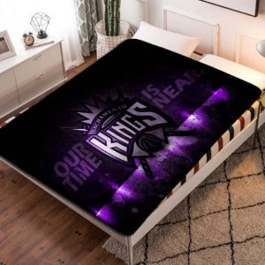 Sacramento Kings Basketball Team Fleece Blanket Throw Bed Set