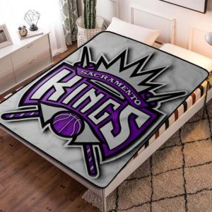 Sacramento Kings NBA Basketball Team Fleece Blanket Throw Quilt