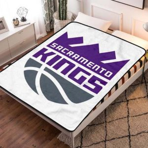 Sacramento Kings Team Basketball Quilt Blanket Fleece Throw